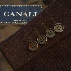 Canali Textured Woven Cashmere Blend Brown jacket
